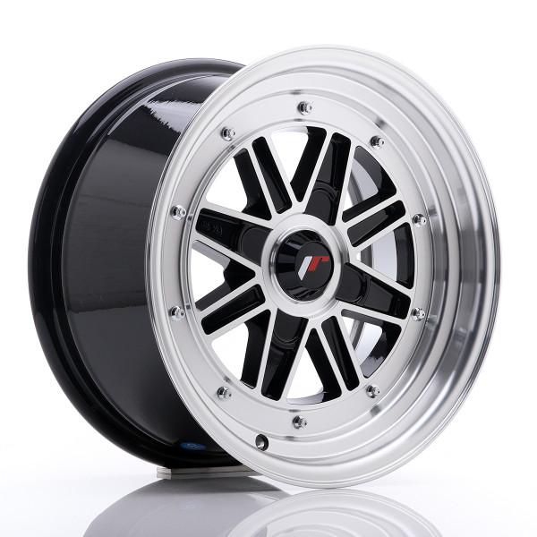 JR Wheels JR31 15x7.5 ET20 4H BLANK Gloss Black Machined Face