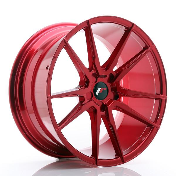 JR Wheels JR21 20x10 ET40 5H BLANK Platinum Red