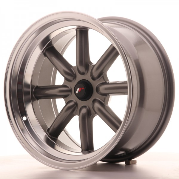 JR Wheels JR19 17x9 ET-25-(-10) BLANK Gun Metal w/Machined Lip