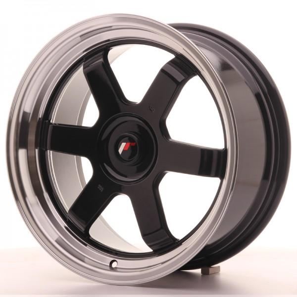 JR Wheels JR12 17x8 ET35 BLANK Gloss Black w/Machined Lip