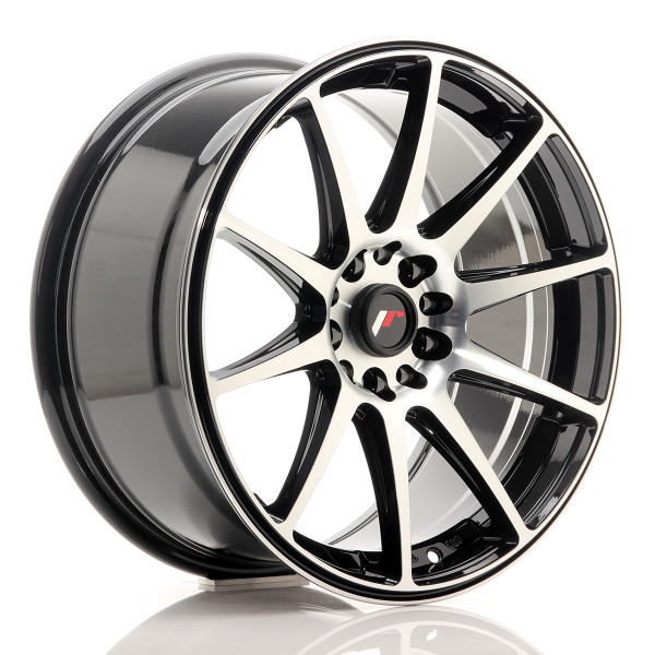 JR Wheels JR11 18x8,5 ET30 5x114/120 Gloss Black Machined Face
