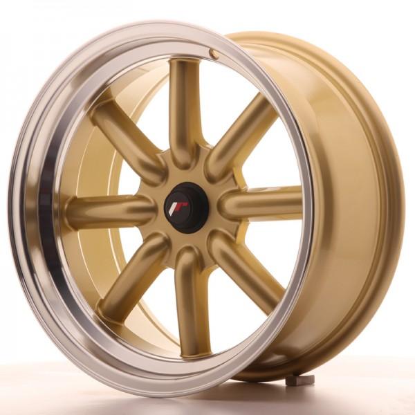 JR Wheels JR19 17x8 ET-20-0 BLANK Gold w/Machined Lip