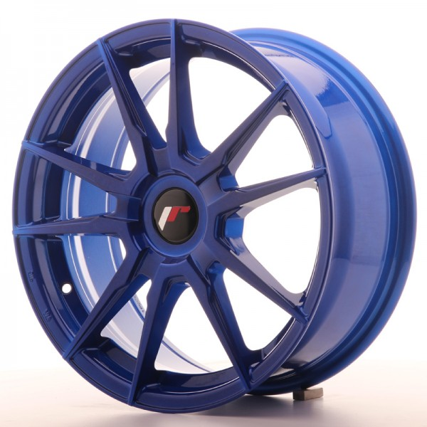 Japan Racing JR21 17x7 ET25-40 Blank Platinium Blu