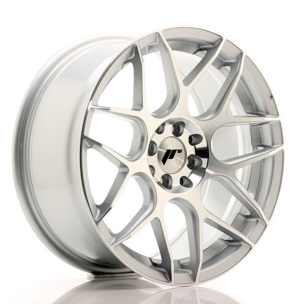 JR Wheels JR18 17x8 ET25 4x100/108 Silver Machined Face