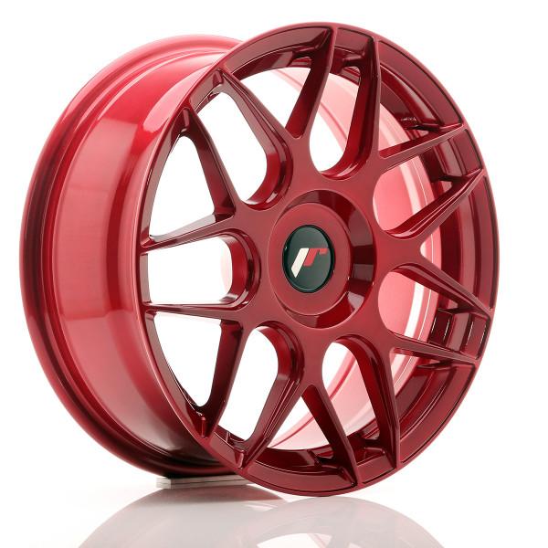 JR Wheels JR18 17x7 ET20-40 BLANK Platinum Red