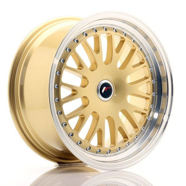 JR Wheels JR10 17x8 ET35 BLANK Gold w/Machined Lip