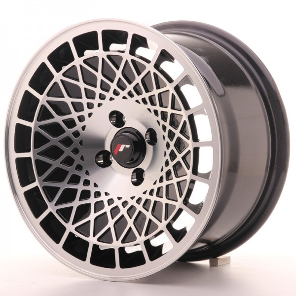 JR Wheels JR14 15x8 ET20 4x100 Gloss Black w/Machined Face