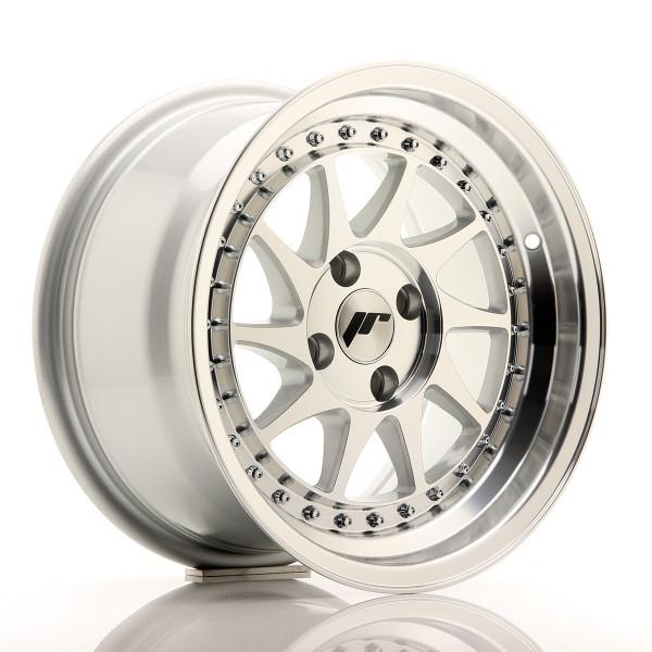 JR Wheels JR26 15x8 ET15 4x100 Silver Machined Face