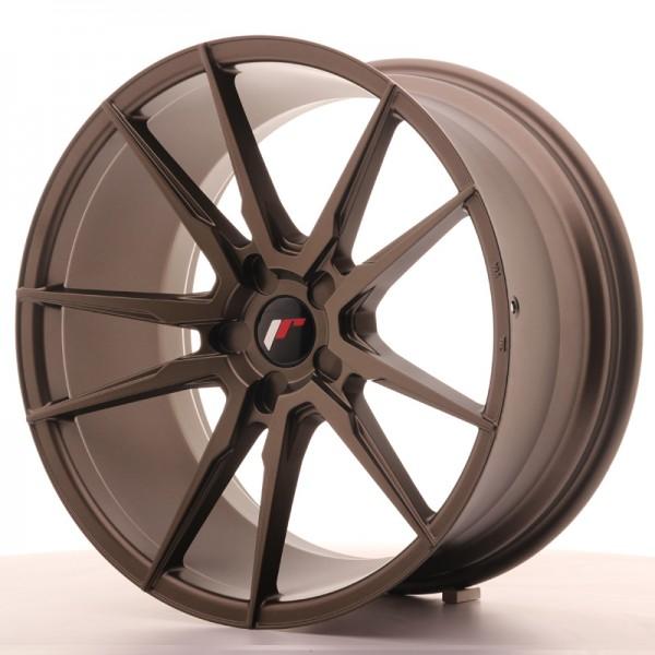 JR Wheels JR21 20x10 ET40 5H BLANK Matt Bronze