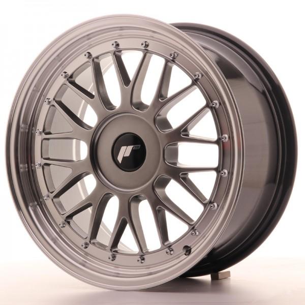 JR Wheels JR23 17x8 ET20-45 BLANK Hyper Black w/Machined Lip