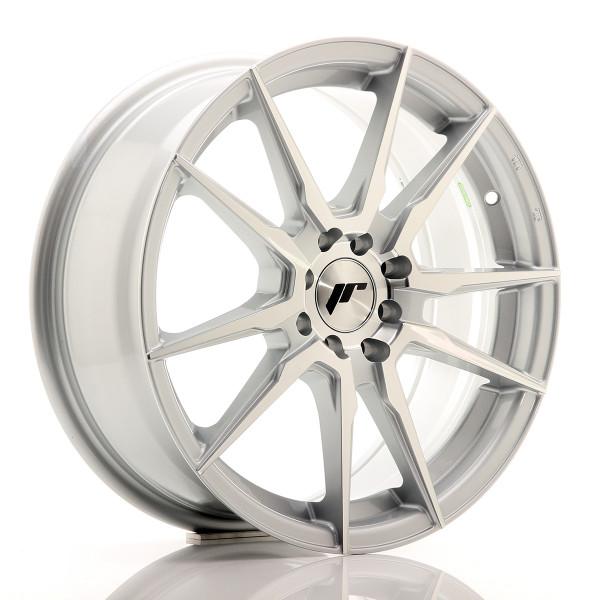 JR Wheels JR21 17x7 ET25 4x100/108 Silver Machined Face