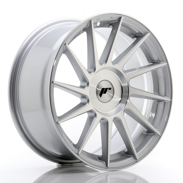 JR Wheels JR22 17x8 ET35 BLANK Silver Machined Face