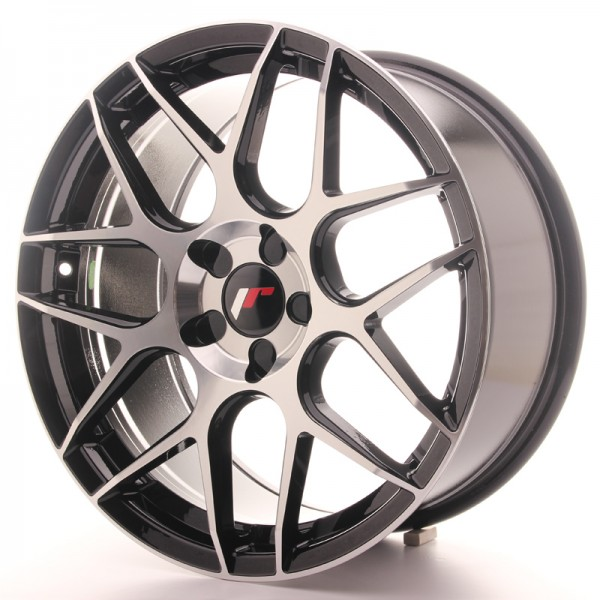 JR Wheels JR18 18x8,5 ET35-45 5H BLANK Gloss Black Machined Face