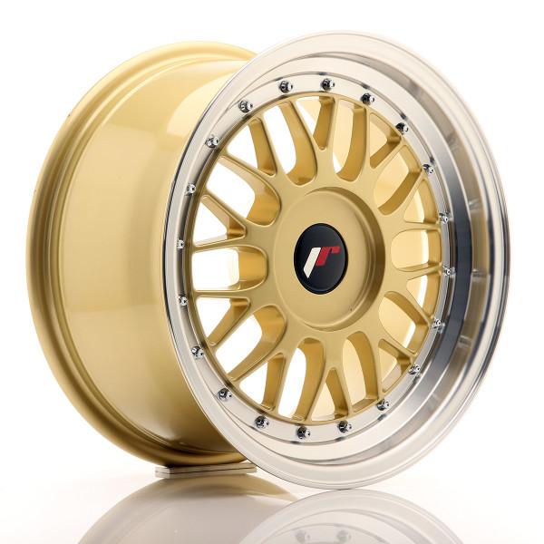 JR Wheels JR23 16x7 ET20-45 BLANK Gold w/Machined Lip