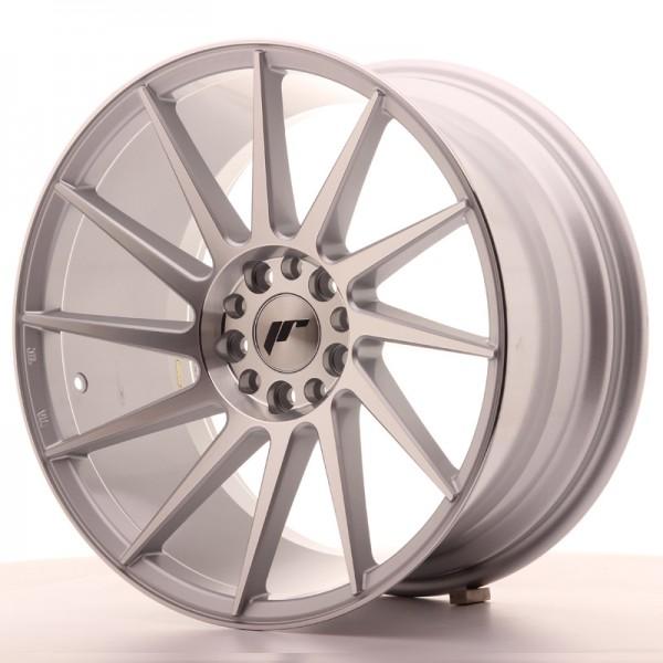 JR Wheels JR22 18x9,5 ET35 5x100/120 Silver Machined Face
