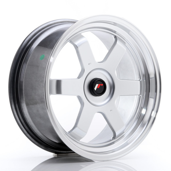 JR Wheels JR12 17x8 ET35 BLANK Hyper Silver w/Machined Lip