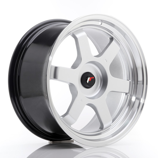 JR Wheels JR12 18x9 ET25-27 BLANK Hyper Silver w/Machined Lip