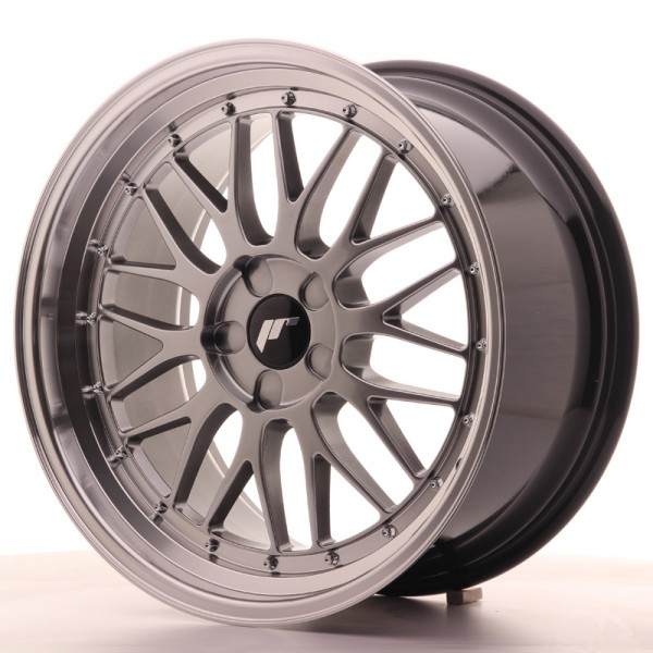 JR Wheels JR23 19x9,5 ET35-48 5H BLANK Hyper Black w/Machined Lip