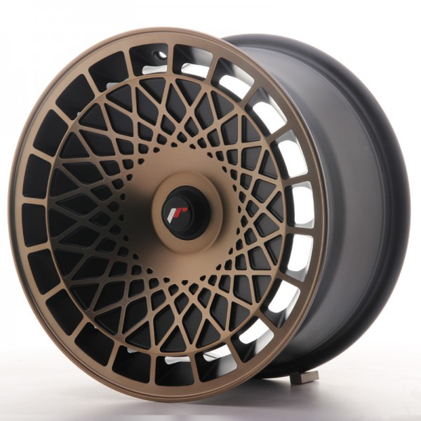 JR Wheels JR14 16x8 ET25 BLANK Matt Black w/Bronze Finish