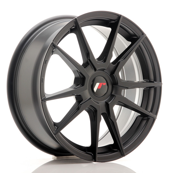 JR Wheels JR21 17x7 ET25-40 BLANK Matt Black