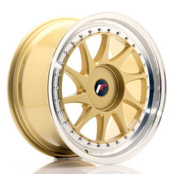 JR Wheels JR26 18x8,5 ET20-40 BLANK Gold w/Machined Lip