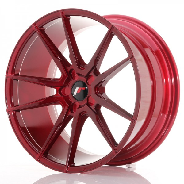 JR Wheels JR21 20x10 ET20-40 5H BLANK Platinum Red