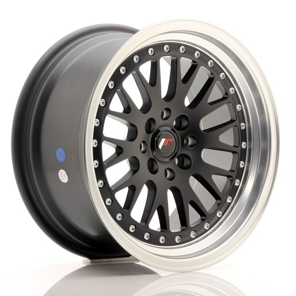 JR Wheels JR10 16x8 ET20 4x100/108 Matt Black w/Machined Lip