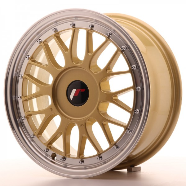 JR Wheels JR23 16x7 ET20-45 BLANK Gold w/Machined Lip