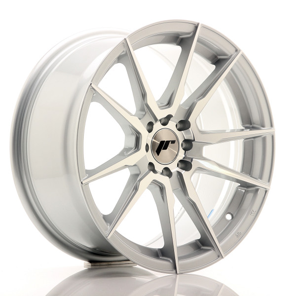JR Wheels JR21 17x8 ET35 4x100/114 Silver Machined Face