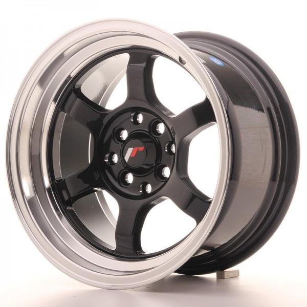JR Wheels JR12 15x8,5 ET13 4x100/114 Gloss Black w/Machined Lip
