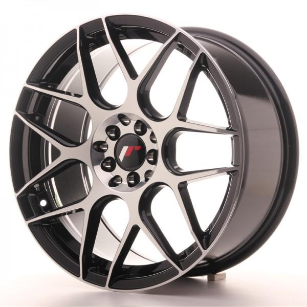 JR Wheels JR18 18x8,5 ET40 5x112/114 Gloss Black Machined Face