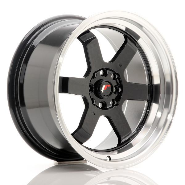 JR Wheels JR12 17x9 ET25 4x100/114 Gloss Black
