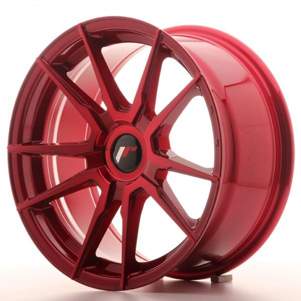 JR Wheels JR21 17x8 ET35 BLANK Platinum Red