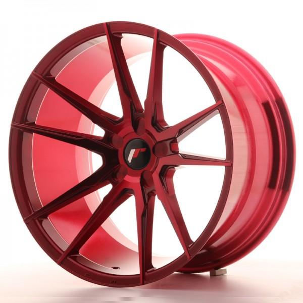 JR Wheels JR21 20x11 ET30-50 5H BLANK Platinum Red