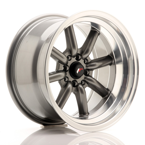 JR Wheels JR19 16x9 ET-15 4x100/114 Gun Metal w/Machined Lip