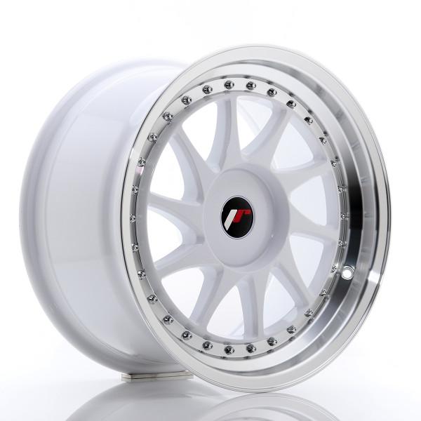 JR Wheels JR26 17x9 ET20-35 BLANK White w/Machined Lip