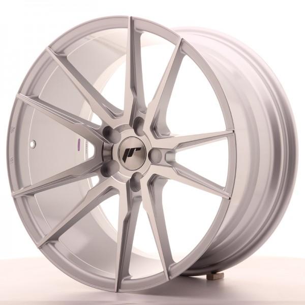 JR Wheels JR21 20x10 ET40 5H BLANK Silver Machined Face