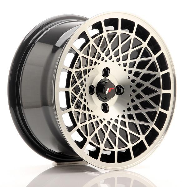 JR Wheels JR14 16x8 ET25 4x100 Gloss Black w/Machined Face