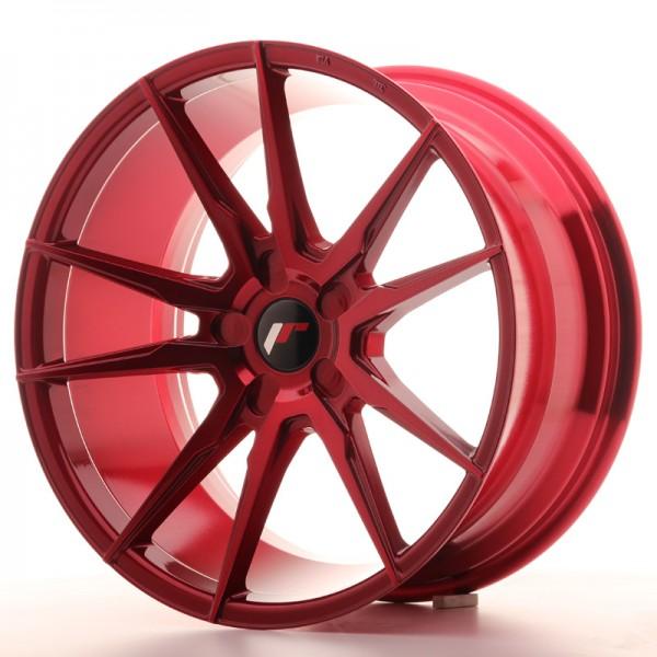 JR Wheels JR21 19x9,5 ET35-40 5H BLANK Platinum Red