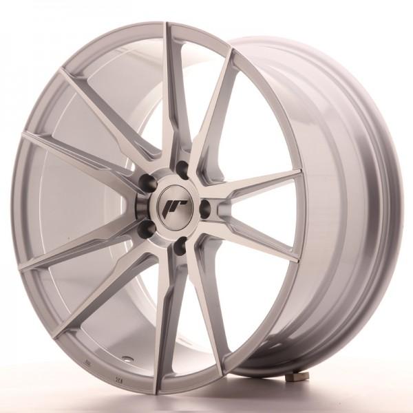 JR Wheels JR21 20x10 ET40 5x112 Silver Machined Face