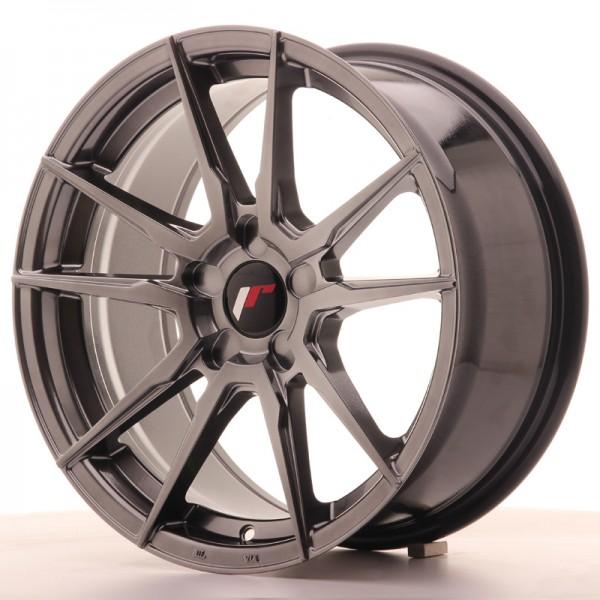 JR Wheels JR21 17x8 ET35 5H BLANK Hyper Black
