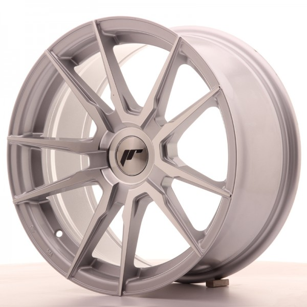 JR Wheels JR21 17x8 ET35 BLANK Silver Machined Face