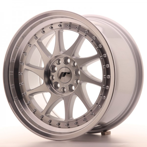 JR Wheels JR26 17x9 ET25 5x114/120 Silver Machined Face