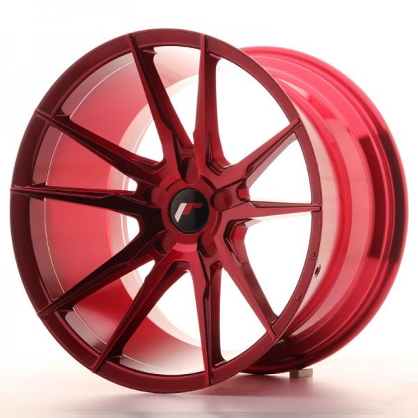 Japan Racing JR21 19x11 ET15-30 5H Platinium Red