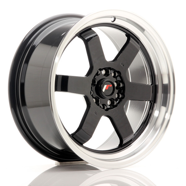JR Wheels JR12 17x8 ET35 5x112/120 Gloss Black w/Machined Lip