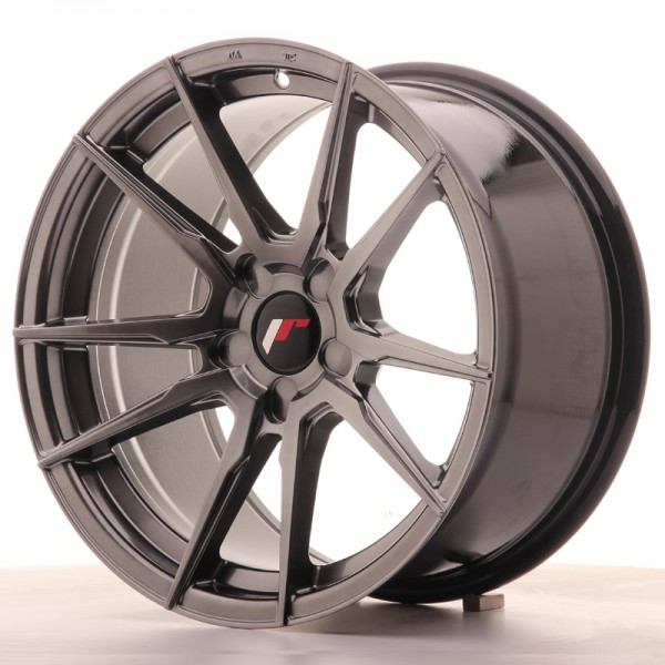 JR Wheels JR21 17x9 ET25-35 5H BLANK Hyper Black