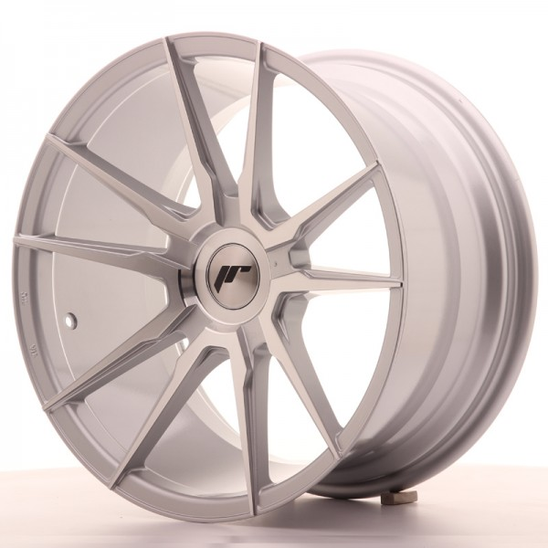 JR Wheels JR21 18x9,5 ET30-40 BLANK Silver Machined Face