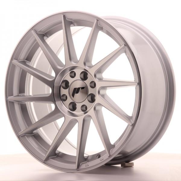 JR Wheels JR22 17x8 ET25 4x100/108 Silver Machined Face
