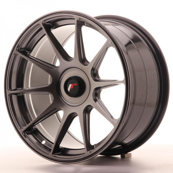 JR Wheels JR11 17x9 ET25-35 BLANK Hyper Black