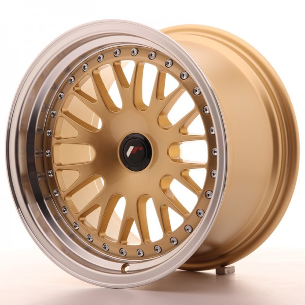 JR Wheels JR10 16x9 ET20 BLANK Gold w/Machined Lip